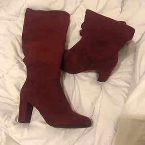 Thigh High Maroon Boots